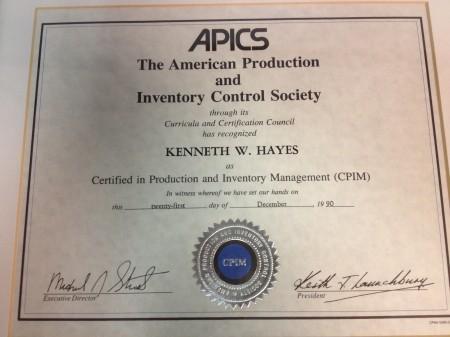 Apics Certification